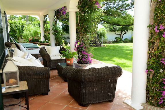 Chill in the shade at La Calma - estepona beach front villa for rent