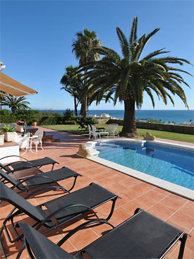 Relax around the pool at Casa Cuig, Duquesa, Costa del Sol