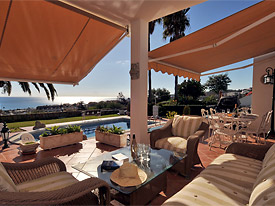 Enjoy the balmy evenings, whilst ding outside at Casa Cuig, Duquesa, Costa del Sol