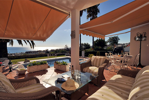 Enjoy the terrace at Casa Cuig, Duquesa, Costa del Sol