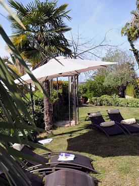 There are ample sunbeds at Villa Miren holiday villa, Marbella