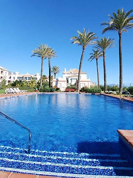 One of the pools at La Perla Beach, holiday apartment, Costa del Sol