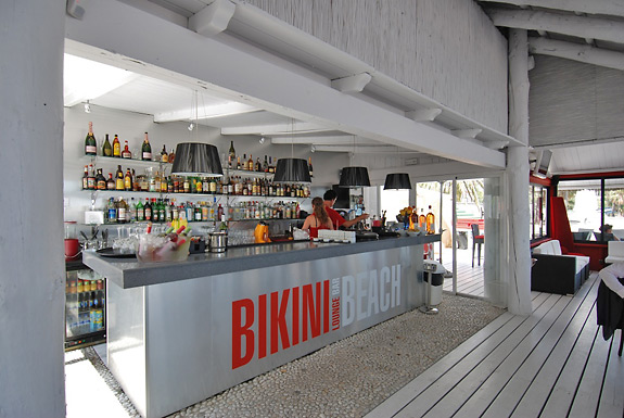 Bikini Beach Bar & Lounge is located on La Rada Beach